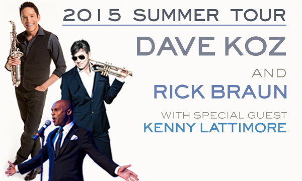 with Dave Koz, Rick Braun, & Kenny Lattimore at The Fraze Pavillion