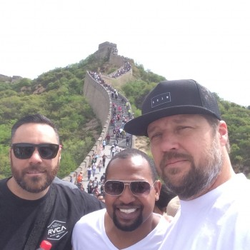 Nate, Foisy, & Klowas at the Great Wall