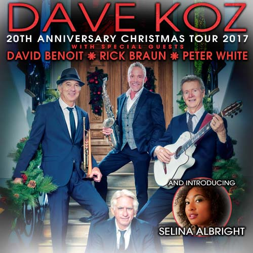 See Nathaniel on the Dave Koz & Friends Christmas Tour!