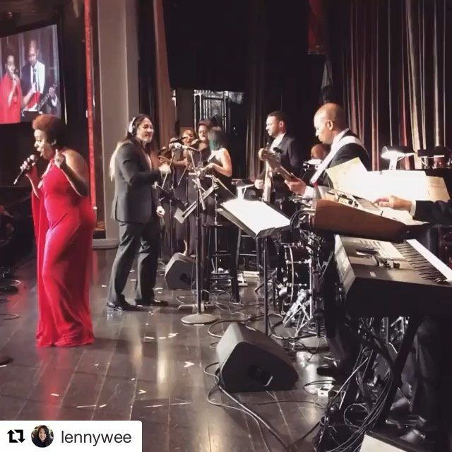 "Here's a little ""Rocksteady"" for ya. I had a blast playing with such a great band and amazing singers at the ETMLA Gala yesterday.  I'm always grateful for opportunities like this!  @adamhawleymusic @waynelinsey @bfm22 @daviddelhomme  #PROfessional #CERTIFIEDPROfessional  #Repost @lennywee with @get_repost ・・・ Sometimes you realize why they call it PLAYING music not WORKING music. Got to be at the helm with the best band in the world honoring @rickeyminor who received a Shining Star Award today for his work benefiting music education in LA. @ledisi ALWAYS brings it! #rickeyminorband #musicdirector #etmla #music #conductor #musician #aretha #rocksteady"