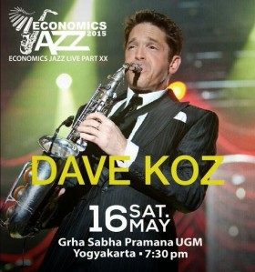 with Dave Koz at The Grha Sabha Pramana UGM